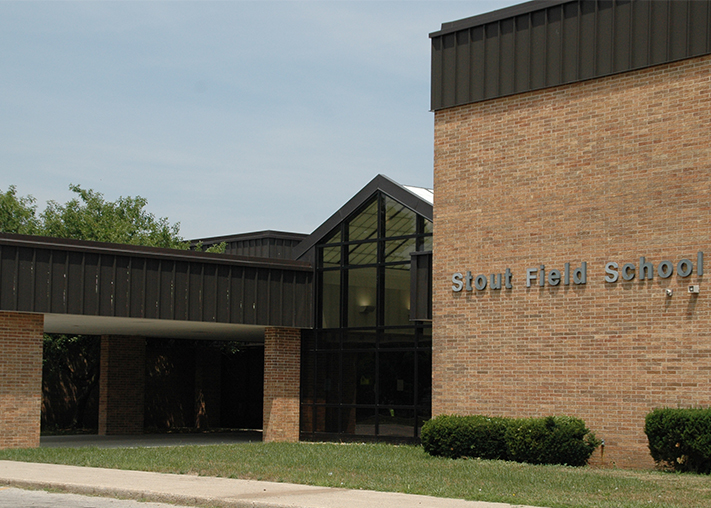Photo of front of Stout Field Elementary
